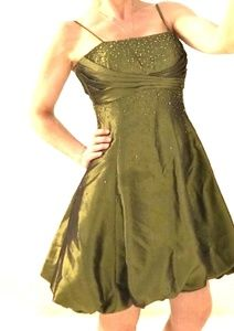 FIESTA size XS emerald green party dress